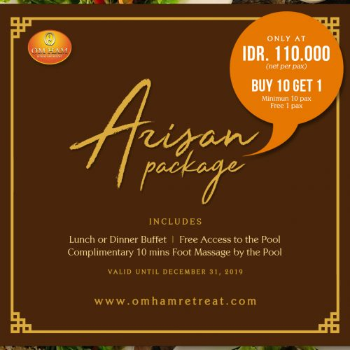 arisan package at om ham retreat and resort